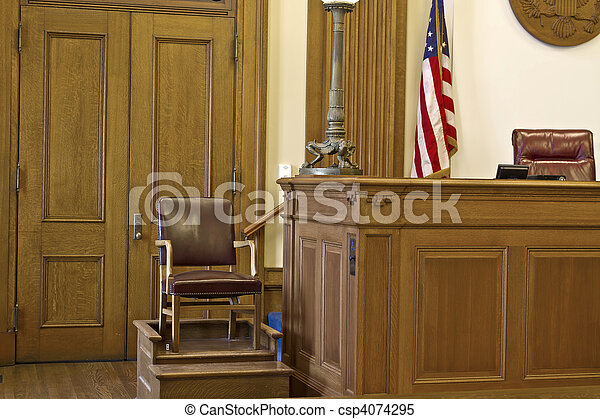 Courtroom Witness Stand Chair - csp4074295