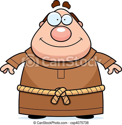Monk Smiling - csp4075738