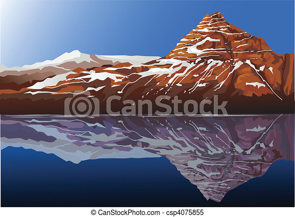 Beautiful mountain background - csp4075855