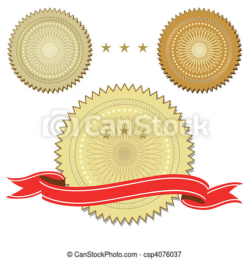 Set of seals with ribbon - csp4076037