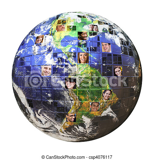 Global Network of People  - csp4076117