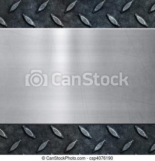 old metal background texture - csp4076190