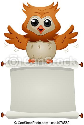 Message Owl - csp4076589