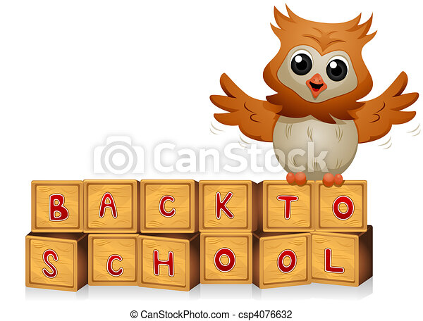 Back to School Owl - csp4076632