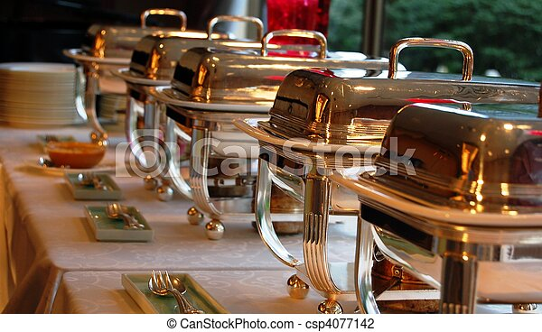 Cheffing Dishes for buffet - csp4077142