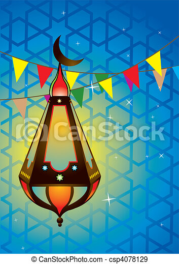 Islamic antique lantern - csp4078129