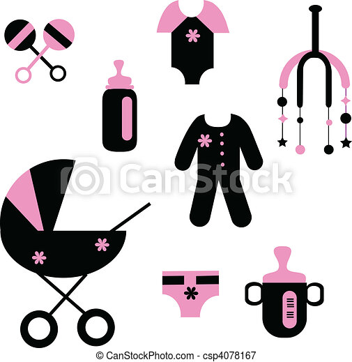 baby set of toys and clothing  - csp4078167