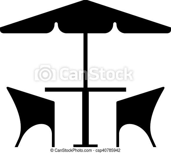 Stühle clipart  EPS Vektor von stühle, tisch, café - Cafe, tisch, und, stühle ...