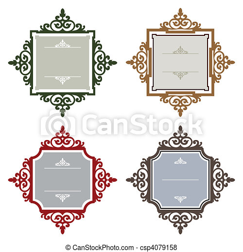 Retro styled frames - csp4079158