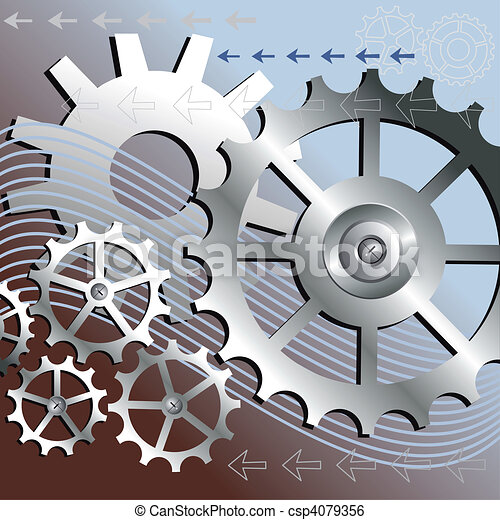 Vector mechanical background - csp4079356