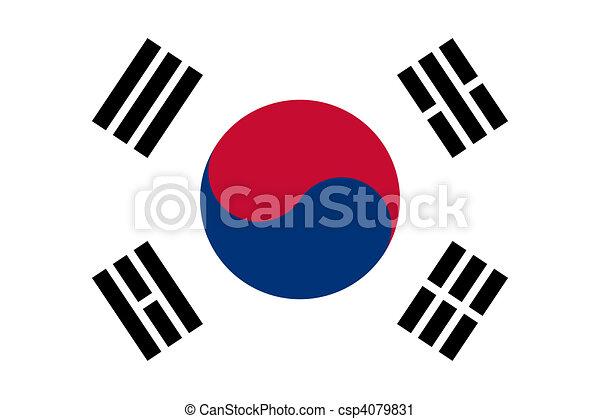 South Korea flag - csp4079831