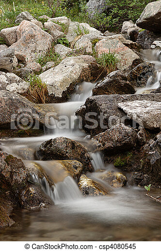 Small waterfall in stones - csp4080545