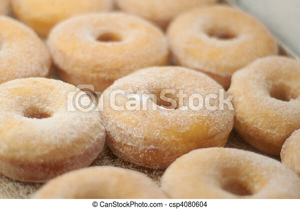 yummy donuts at a bakery - csp4080604
