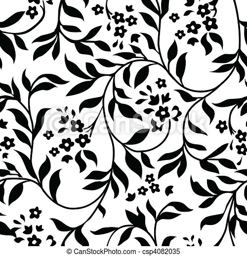 Vector Ivy Pattern - csp4082035