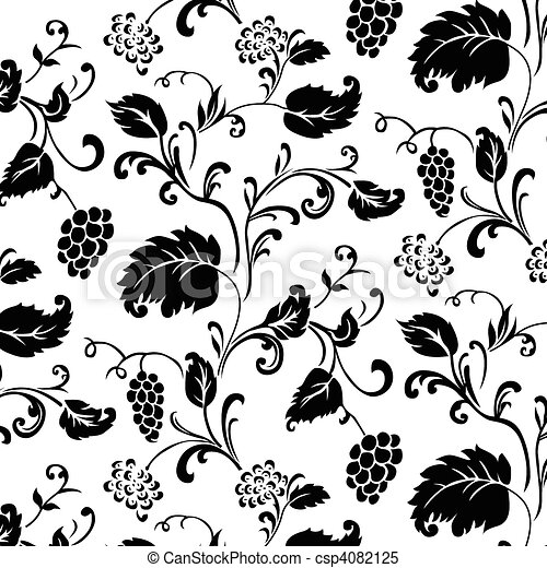 Vector Ivy Pattern - csp4082125