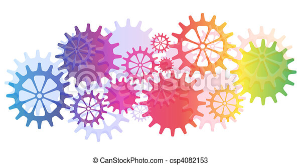 Mechanical Vector Background with Gears and Cogs. - csp4082153