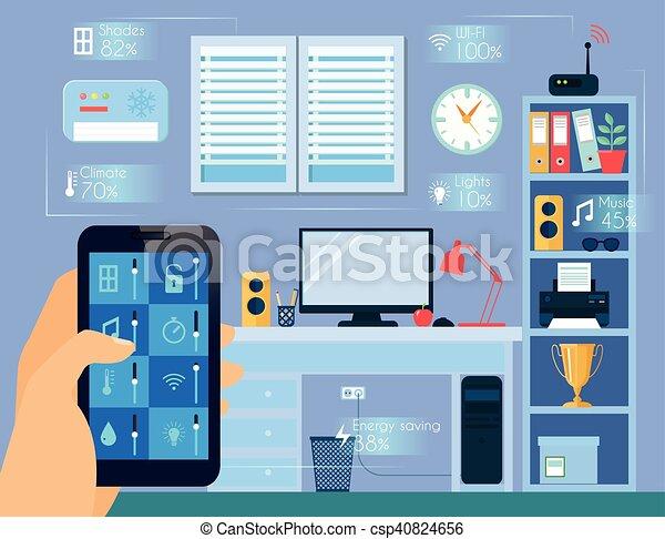 Smart Home Concept Illustration - csp40824656