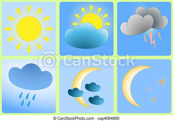 Day and Night weather variation - csp4084660