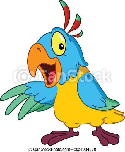Presenting parrot - csp4084678