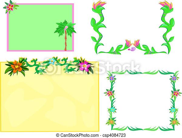 Vetores de plantas tropicais bordas mistura aqui - Marcos para plantas ...