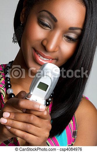 Text Message Woman - csp4084976