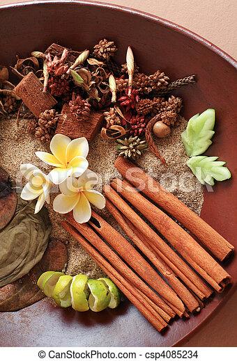 Natural herbal spa ingredient - csp4085234