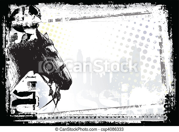 horse background - csp4086333