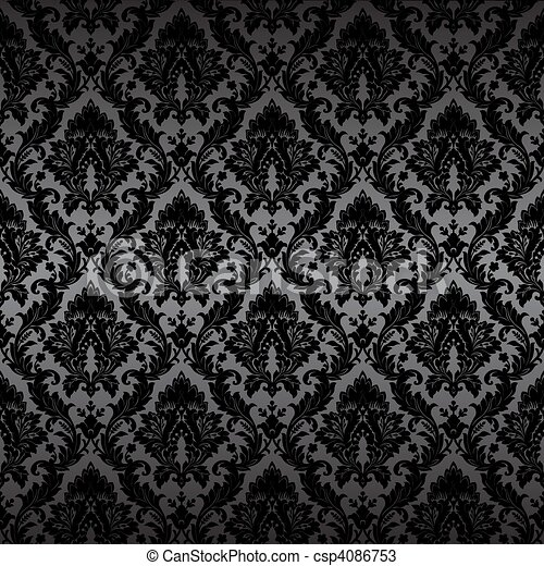 Damask seamless wallpaper - csp4086753