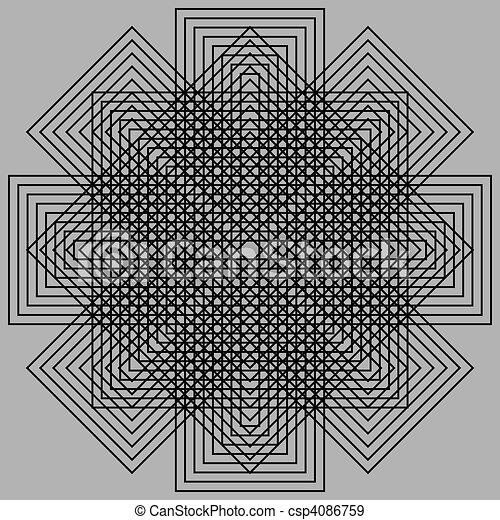 Optic illusion - csp4086759