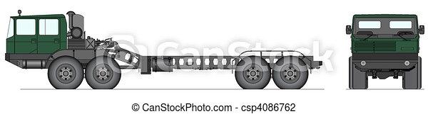 Heavy Soviet tank truck - csp4086762