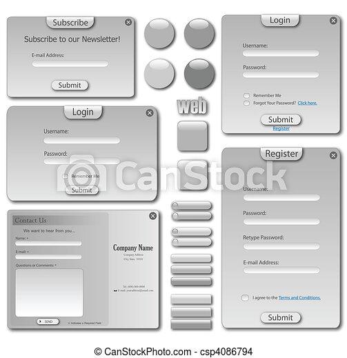 Grey Web Template - csp4086794