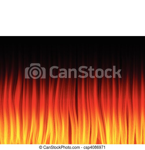 Realistic Fire Flames. Color and forms are editable. - csp4086971