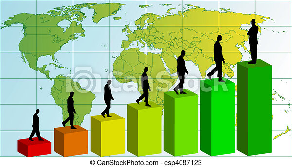 Business team chart earning. Vector - csp4087123
