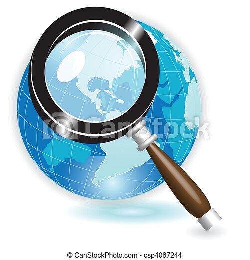 Magnifying glass - csp4087244