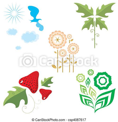 flora and fauna - csp4087617