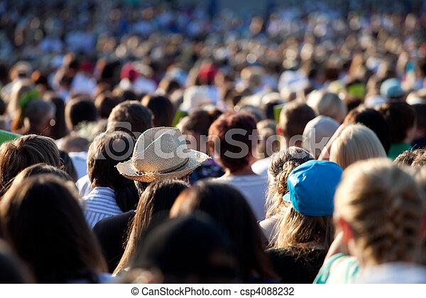 Large crowd of people - csp4088232