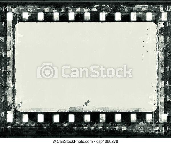 Grunge film frame - csp4088278