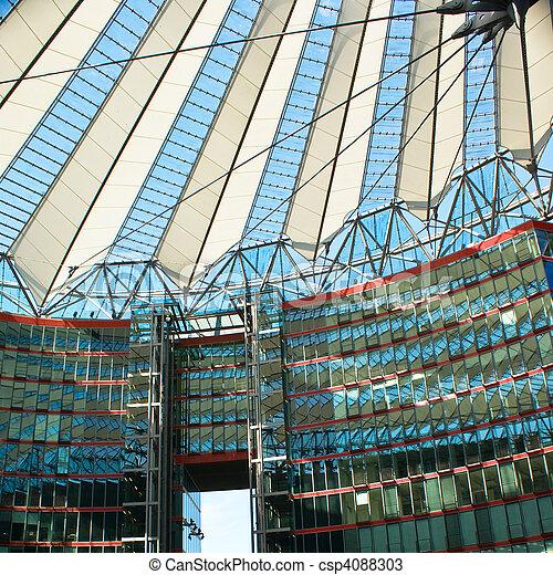 exterior of business building - csp4088303
