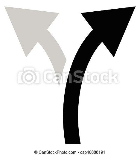 EPS Vector of Two way arrow symbol, arrow icon. Curved arrows left ...