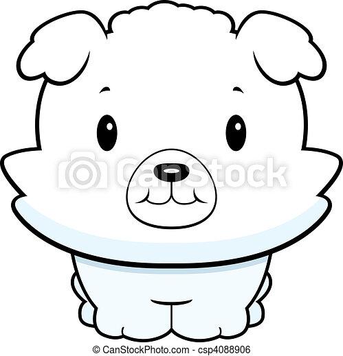 Clip art vecteur de b b chien a b b dessin anim - Dessin bebe chien ...