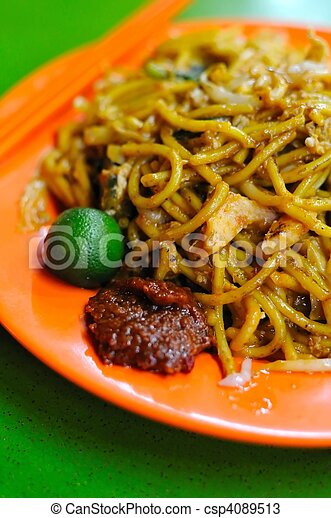 Malay style fried noodles - csp4089513