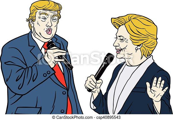 Donald Trump Vs. Hillary Clinton - csp40895543