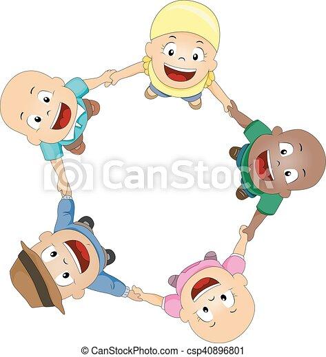 Kinderkreis clipart  Vektor Clipart von spaß, patienten, kinder, kreis, krebs ...