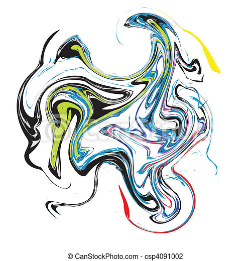 Colour abstract stains. Vector - csp4091002