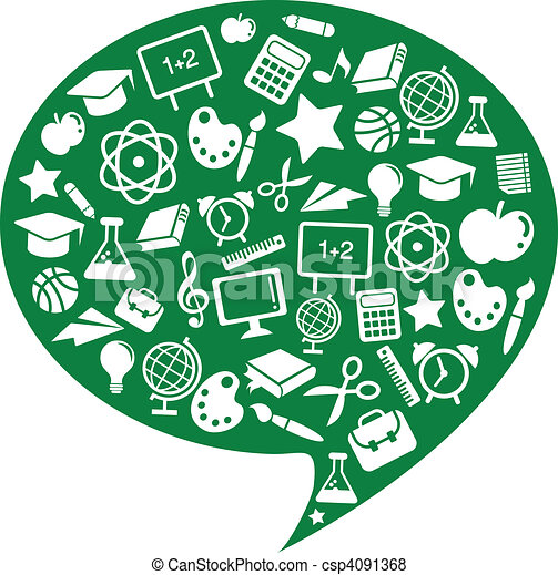School and education icons - csp4091368