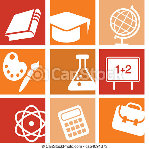 Science and education icons - csp4091373