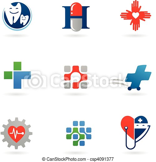 Medicine and health-care icons - csp4091377