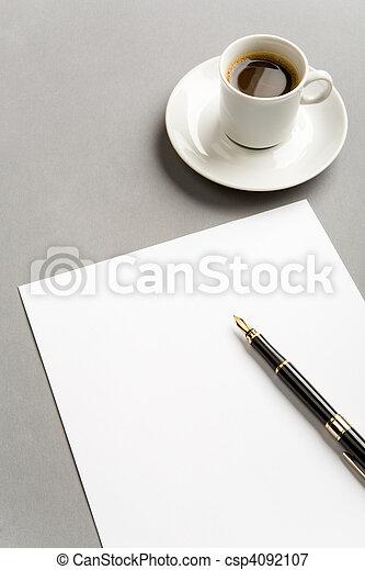 escrito, trabalho - csp4092107