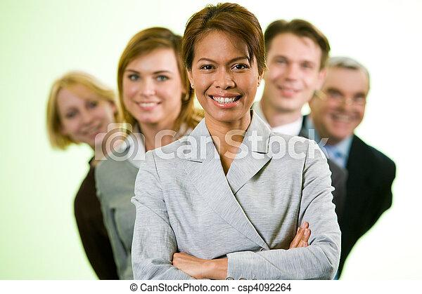 Confident employer - csp4092264