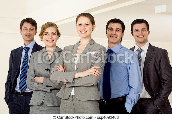 Confident employer - csp4092408